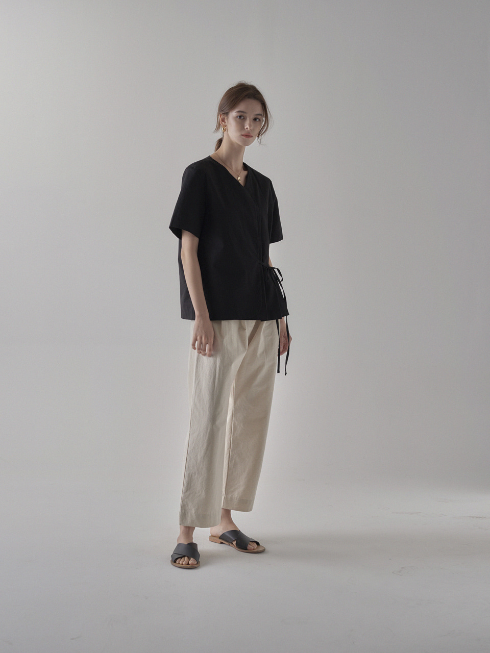 아르세(ARCE) PINTUCK PANTS [OATMEAL]
